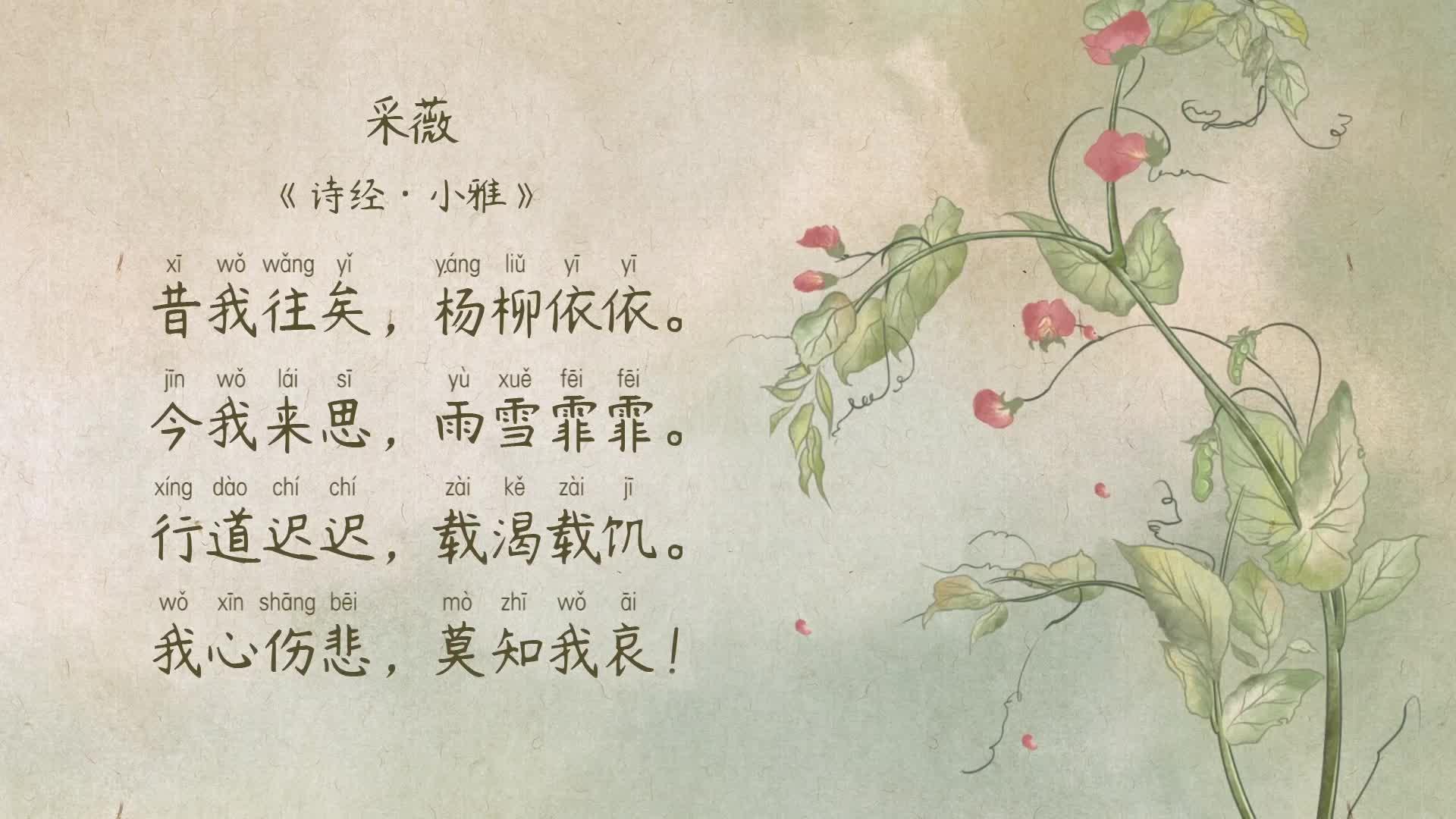 《小学古诗》112采薇-《诗经·小雅》