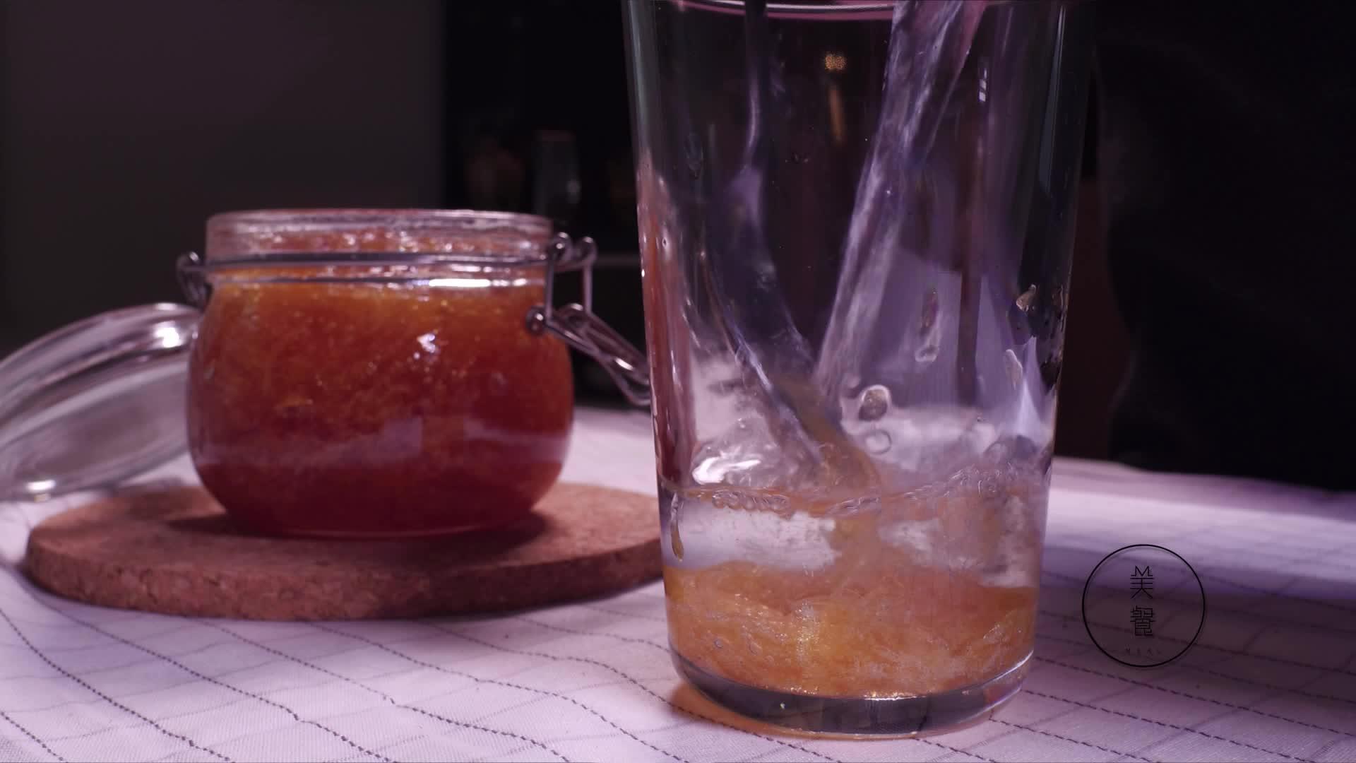 美餐:果酱和蜂蜜柚子茶
