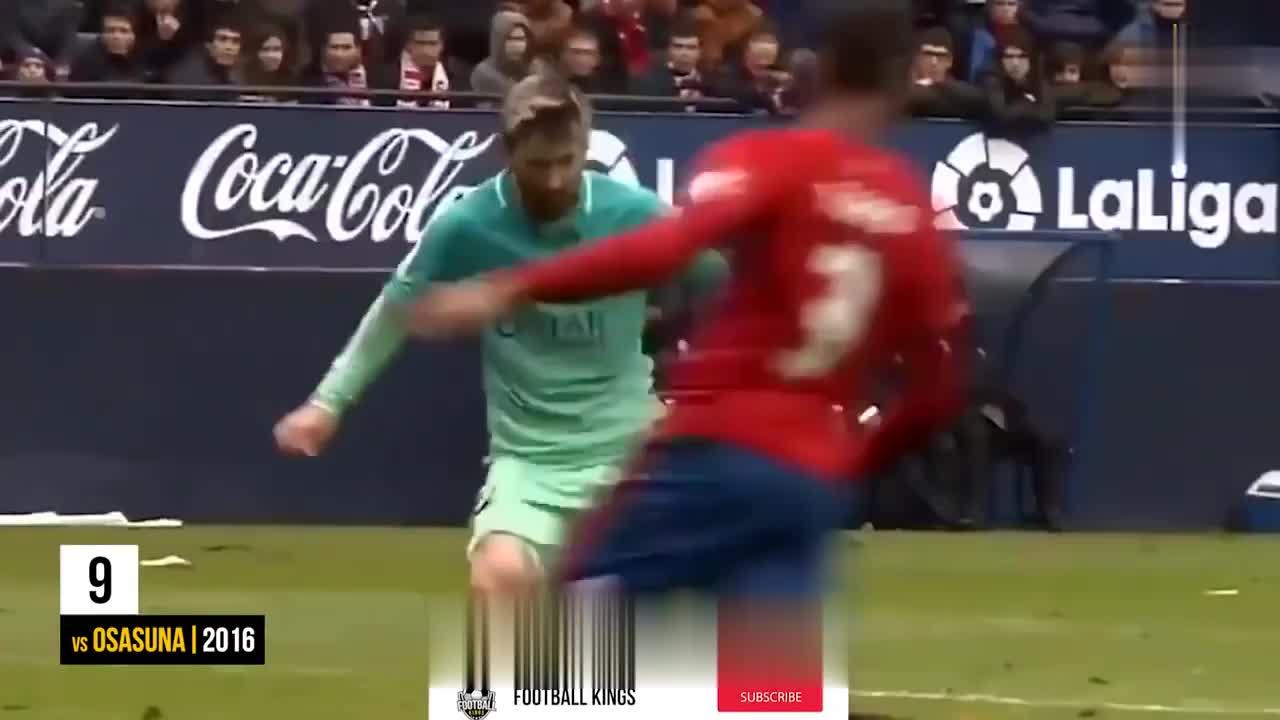 球王梅西个人生涯十大进球,无愧足坛第一人